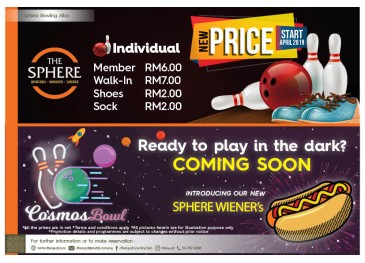 Sphere Bowling New Price & Promo