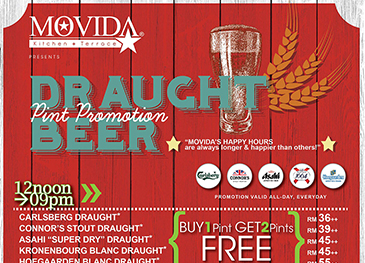 MOVIDA Draught Beer Pint Promotion